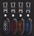 1 шт. Кожаный Дистанционного Smart Key Дело Брелок Крышка для Nissan X-Trail Rogue Tiida Teana Sylphy Солнечный Livida Qashqai