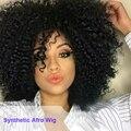 Perucas Afro para As Mulheres Negras Afro Encaracolados Peruca de Cabelo Sintético longo Encaracolado Peruca de Cabelo para As Mulheres Venda Barato das Mulheres Africanas perucas