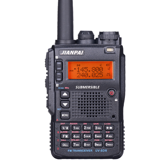 UV 8DR dual band walkie talkie 136 147/400 520mhz LCD screen group call signal call  dual PTT CB radio powerful radios