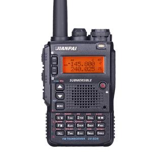 Image 1 - UV 8DR dual band walkie talkie 136 147/400 520mhz LCD screen gruppe rufen signal anruf dual PTT CB radio leistungsstarke radios