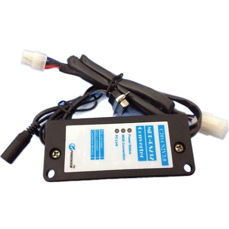 1PC New MDB RS232 Bill Acceptor Validator Adapter With English Manual