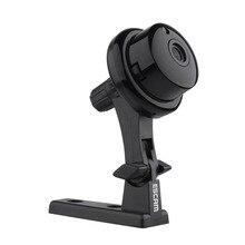 ESCAM Button Q6 IP Camera Wifi Wireless Mini Camera ONVIF CCTV Home Security Indoor Cameras Night Vision WI-FI IP Cam Black