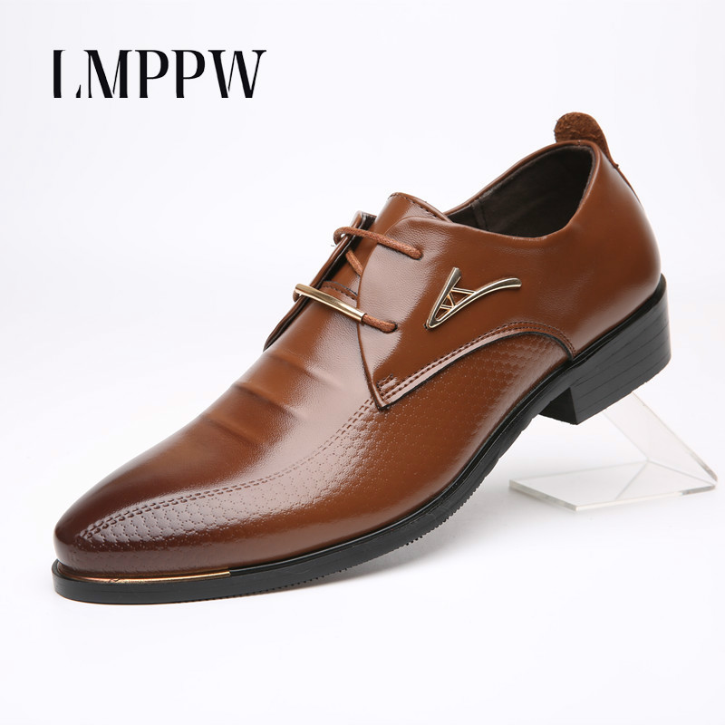 Shoes Low Price Hottest British Style Crocodile Leather Oxfords Black Pointed Toe Tope Quality Flats Shoes Mens Wedding Flats Men's Casual Shoes