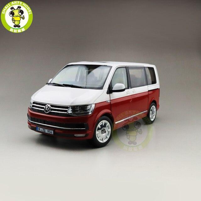 1/18 NZG Multivan T6 Diecast דגם רכב אוטובוס MPV ילד ילדה מתנות אוסף תחביב