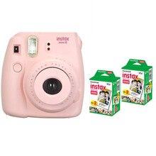 Fujifilm Instax Mini 8 Instant Печать Цифровая Фотокамера С 40 Листов Twin Pack Fuji Film Фотобумаги для Mini 7 s 25 50 s 90