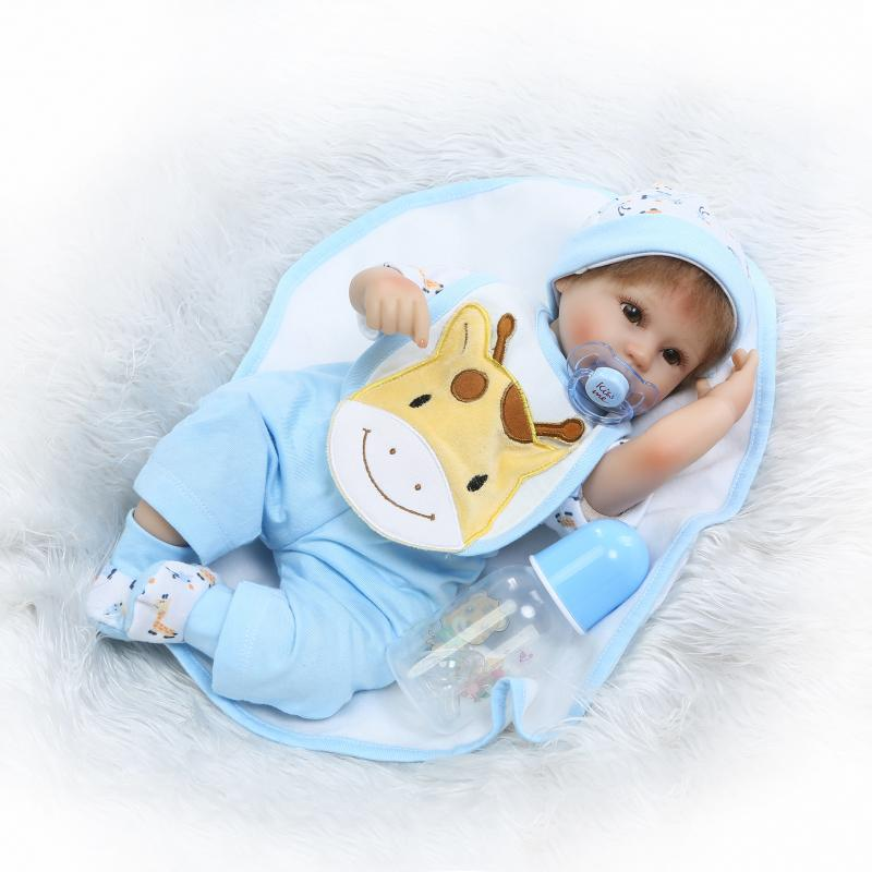 ФОТО Cartoon 17'' Reborn Dolls Wear Baby Clothes 43 cm Soft Silicone Lifelike Baby Stuffed Doll Toys New Design Gifts For Kits Hot