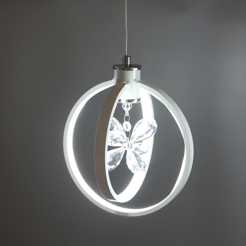Modern LED Pendant Lights For Dining Room Acrylic Suspension Hanging Ceiling Lamp Luminaire Crystal Pendant Lamps E27 WPL131 modern led pendant lights for dining living room hanging circel rings acrylic suspension luminaire pendant lamp lighting lampen