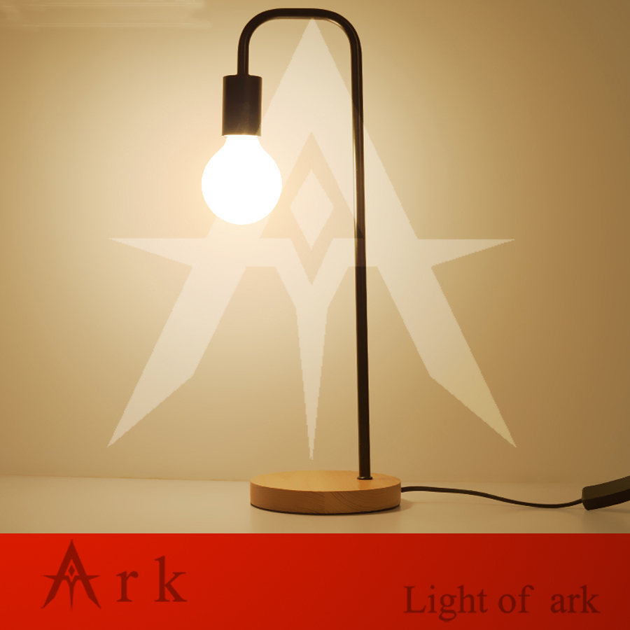 ark light Nordic simple dormitory creative personality Table light study modern wooden Table Lamps bedside lamp for students creative fashion led touch small lamp dc plug eye study with college students dormitory dormitory goggle led book