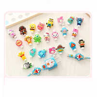 100pcs Cute Cartoon Cable Protector Data Line Cord Protector Protective Case Cable Winder Cover For iPhone USB Charging Cable