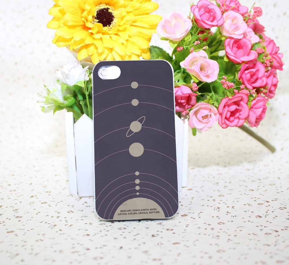 you are here solar systhellip White Hard Case Cover for iPhone 4 4s 5 6 1pc