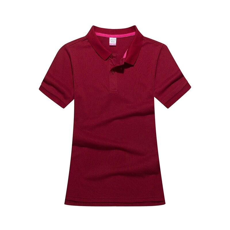 Aufrichtig Mujer Polo T-shirt Plain Frauen Camisa Femme Schlank Shirts Kurzarm Frühling Solide Polo Hemd 230g Kardieren Baumwolle Polo Shirts Niedriger Preis