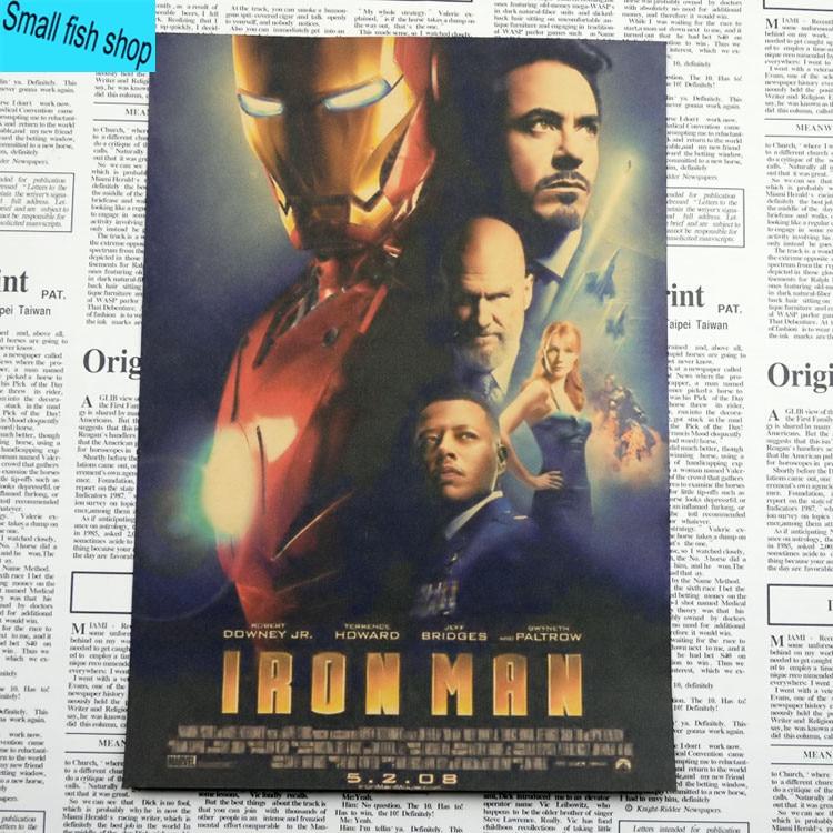 Iron Man1 2 3 Retro Movie Poster Үйге арналған жиһаз - Үйдің декоры - фото 2