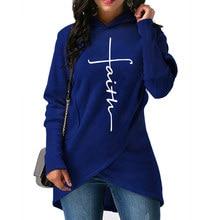 Fashion – Faith – Sweatshirts Hoodies with – Pockets Creative Plus Size