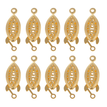 10 Pcs Copper Connectors Clasps Gold Jewelry Findings Making Necklace Bracelet DIY Accessories Metal Clasp Hook Handmade Craft