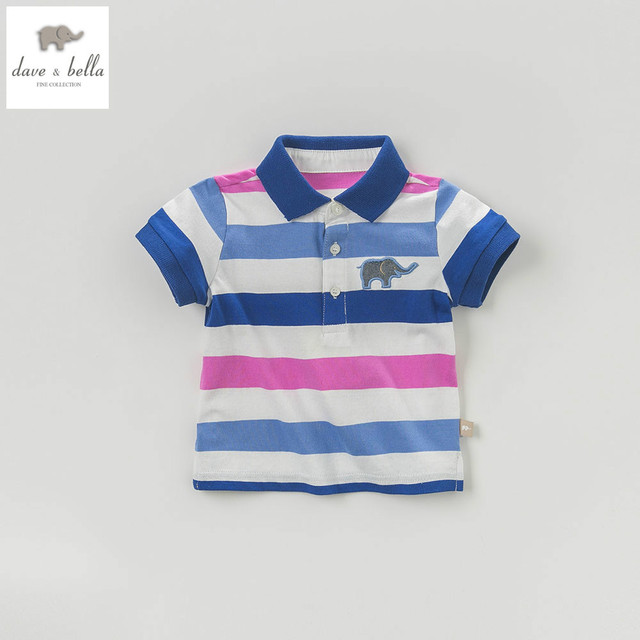 6fce16a76 DB5870 dave bella summer baby boys polo shirts kids infant clothes children  toddle t shirt childs cotton shirt
