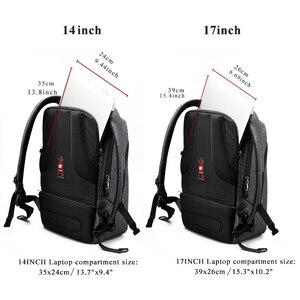 "Image 4 - Tigernu Brand Men Backpack Anti Theft USB Charge 17"" Laptop Backpack Male Women School Backpack School Bag High Quality Men Bag"