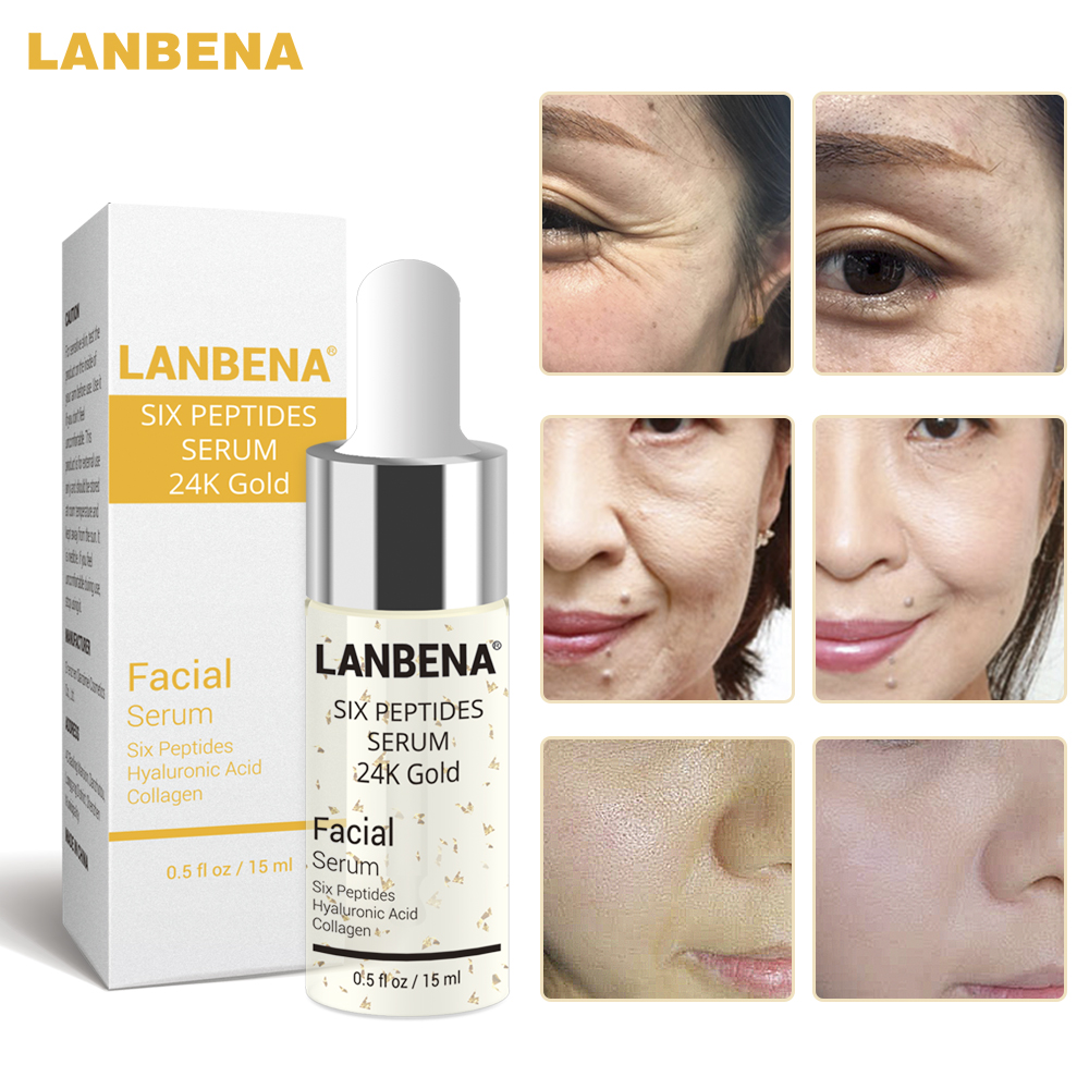 LANBENA 24K Gold Serum Face Creams Anti-Aging Oil Wrinkles Lift Firming Whitening Moisturizing Acne Treatment Skin Care Essence