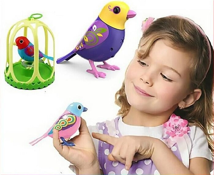 120set/lot Electric Sing Song Bird Singing Sound Birds Pet Sing Solo Or In A Choir Intelligent Music Bird For Kids Baby Gift Toy