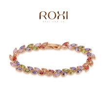 ROMAD Fashion Bracelet Gold Color trendy jewelry wedding gift Austrian crystal fashion Environmental Micro Inserted Jewelry