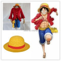 Free shipping Cosplay One piece Costumes One piece Monkey D. Luffy cosplay Set T Shirt+Pants+Hat+yellow belt HU096