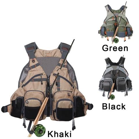 pesca com mosca colete pacote para equipamento de pesca truta multifuncoes respiravel mochila tamanho ajustavel