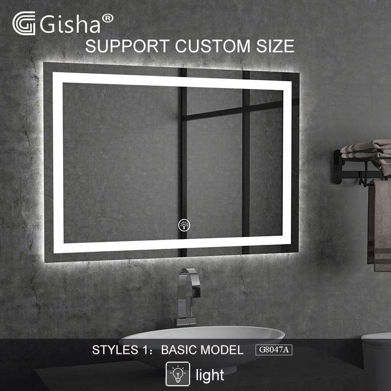 Custom Made Wall-mounted Smart Mirror LED Bluetooth Bathroom Mirror Backlit Mirror  Anti-fog Bath Mirror  Makeup Mirror 2G8047