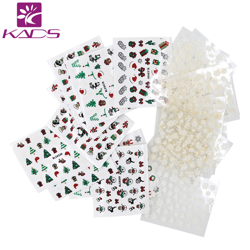 KADS Must Have!! 36pcs/set 3D Cute Cartoon Pattern Transfe  Nail Art Stickers Nail Water Decals Manicure Decoration Tool must have