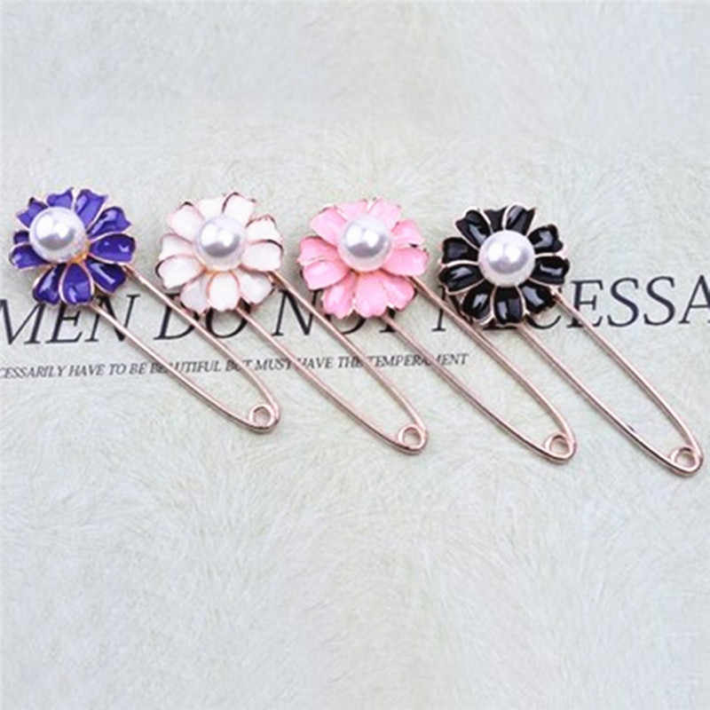 Hot Sale Woman/Girl Imitation Pearl Brooch Circle Brooch Button For Woman Collar Lapel Pins Badge Flower Brooch Jewelry Gifts