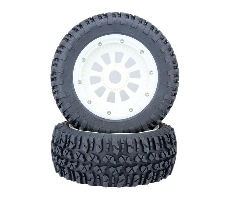 High-strength nylon wheel tire assembly for 1/5 losi 5ive-t rovan lt king motor x2 partsHigh-strength nylon wheel tire assembly for 1/5 losi 5ive-t rovan lt king motor x2 parts