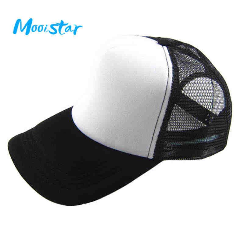 dd383ed877f Mooistar  4066D Unisex Casual Hat Solid Baseball Cap Trucker Mesh Blank  Visor Hat Adjustable