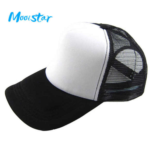 Mooistar Unisex Casual Hat Solid Baseball Cap Trucker Mesh Blank Visor Hat Adjustable