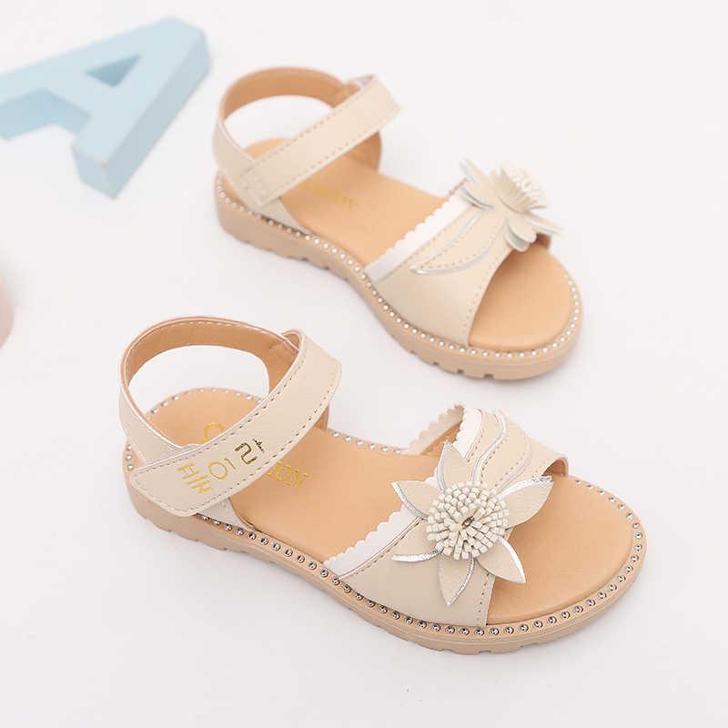 2019 สาวสไตล์ใหม่รองเท้าแตะดอกไม้เสื้อผ้าเด็กสไตล์ฤดูร้อนรองเท้าแตะหญิงผ้าพันคอรองเท้าแตะ