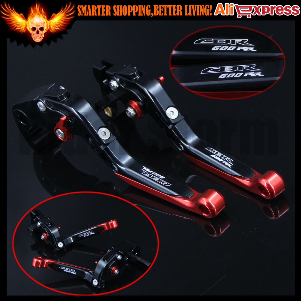 CNC Folding Extendable Adjustable Motorcycle Brake Clutch Levers For Honda CBR600RR 2007-2016 2009 2010 2011 2012 2013 2014 2015 aluminum alloy new long folding billet adjustable brake clutch levers for honda xl1000 xl 1000 varadero 2009 2013 2010 2011 2012