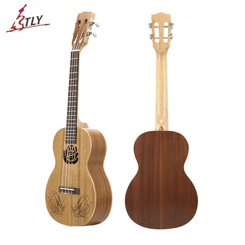 26 23 21 inch Top Mahogany Tenor Ukelele Ukulele Rosewood Fingerboard 4 Strings Hawaii Mini Guitar Engraving pattern jackson x series dinky arch top dkaf7 ms dark rosewood stained mahogany
