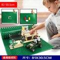 81*30.5 cm placa base más grandes bloques suaves 1 unids bloques de bloques de construcción diy placa base compatible con legoe