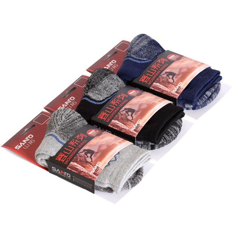 Image 4 - ماركة سانتو (2 أزواج) جديد موضة الرجال الجوارب الرجال جورب التجفيف السريع الجوارب الشتاء سميكة الحرارية الجوارب للرجالbrand men socksfashion men socksmen brand socks -
