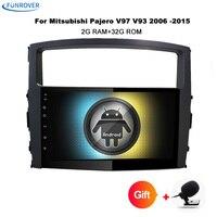 Funrover 2Din 9 Car Radio Tape Recorder Android 8 0 For MITSUBISHI PAJERO V97 V93 Car
