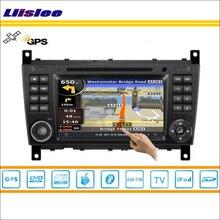 Liislee для Mercedes Benz SLK R171 2004 ~ 2011 автомобиля Радио Аудио Видео Стерео DVD плеер gps-навигатор S160 мультимедиа Системы
