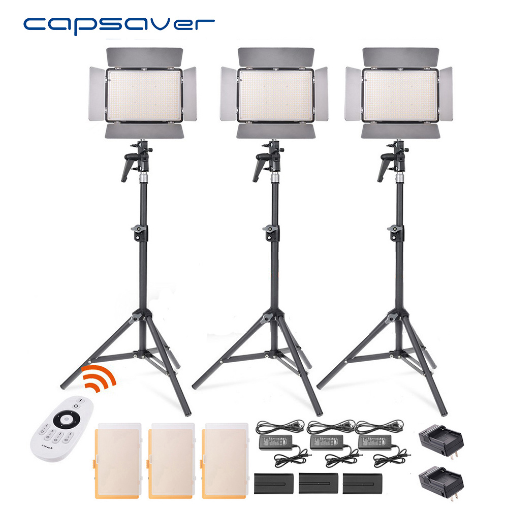 capsaver TL-600S LED Video Light 3 in 1 Kit Photography Lighting with Tripod Remote Control 600 LEDs 5500K CRI 90 Studio Light keyshare dual bulb night vision led light kit for remote control drones