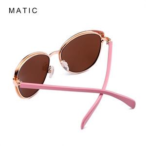 Image 3 - Женские винтажные очки авиаторы MATIC, розовые солнцезащитные очки в стиле ретро с градиентом для вождения, для макияжа, кошачий глаз