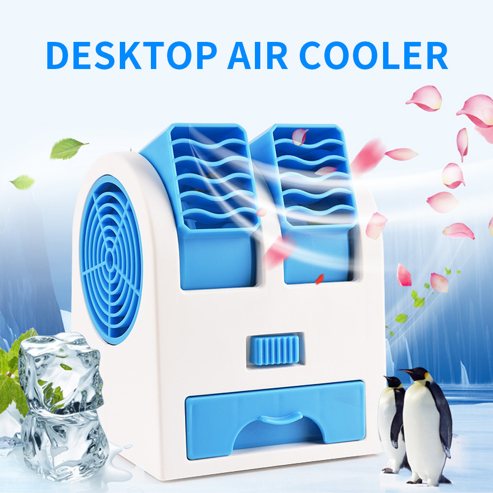 Energisch Dual Port Parfüm Blattlosen Ventilator Portable Desktop Fan Persönliche Usb Batterie Dual-use-fan Luftkühler Für Büro Wohnzimmer Zimmer Schlafzimmer