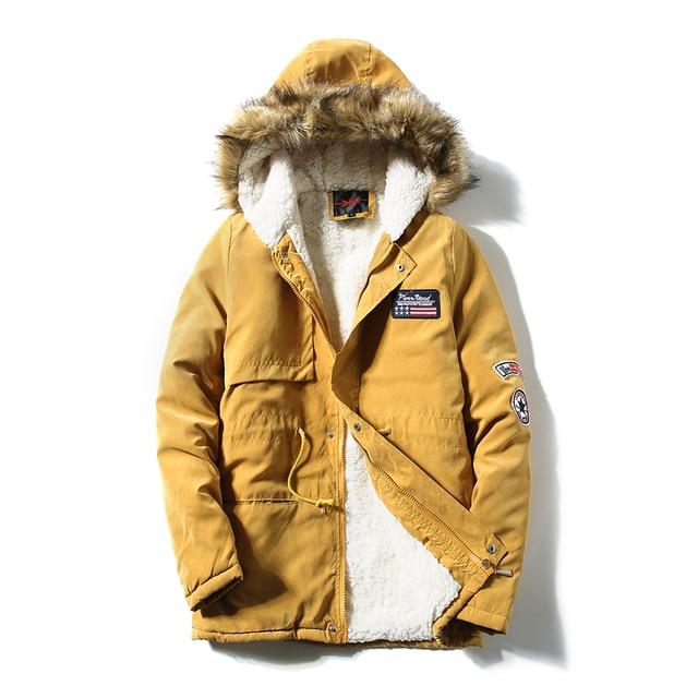 2016 Winter Jacket Men Fashion Design Brand Parka Men Clothing Zipper Coat Male Thick Warm Fur Collar Hooded Parka Plus Size 5XL