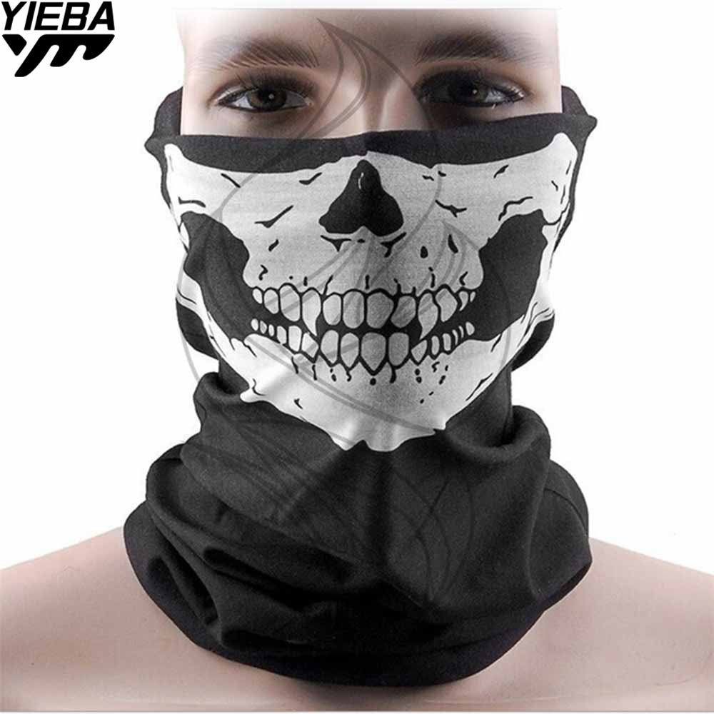 1/2pcs motorcycle skull ghost face windproof mask outdoor sports warm ski caps bicycle bike balaclavas scarf skull face mask