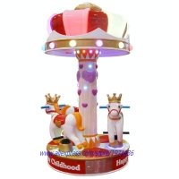 3 Seats Kids Coin Operated Arcade Game Machine Mini Carousels Horse Rides For Shopping Mall