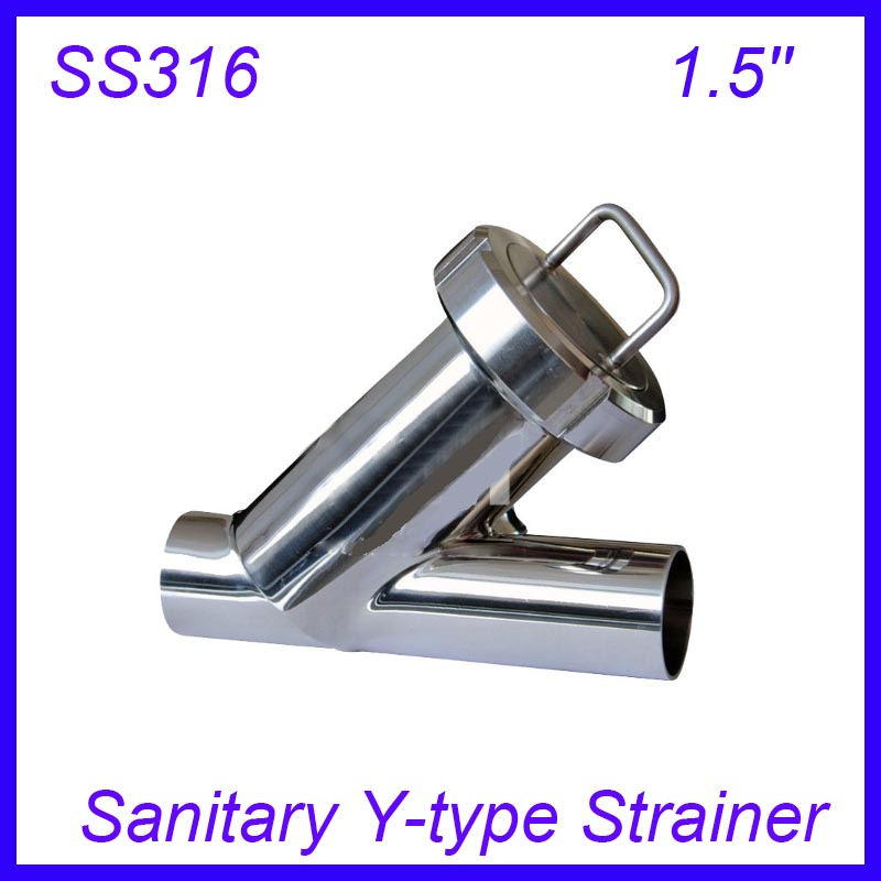 Sanitary stainless steel ss y type filter