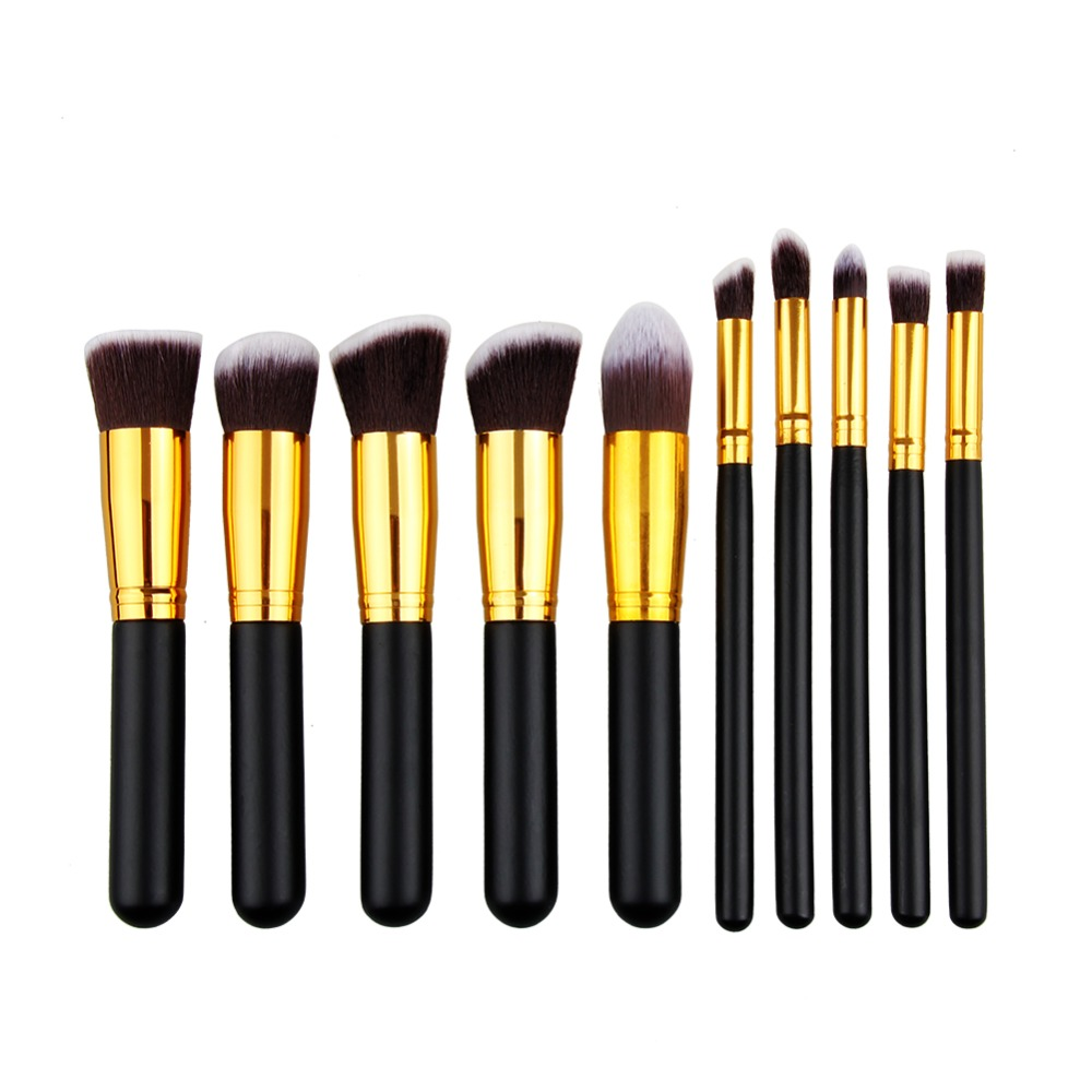 BBL 10pcs Real Makeup Brushes Professional Kit Soft Foundation Eyeshadow Cosmetics Blush Brush Make Up Tool Pincel Maquiagem