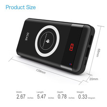 2 in 1 Wireless Charger + Power Bank 10000mAh Qi Fast Charger for iPhone Samsung Xiaomi