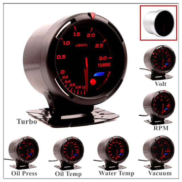 Boost Gauge 60 mm for BMW E 30 34 36 38 39 46 53 60 82 83 87 90 92 F 11 20 Auto Boost Pointer turbo pressure Meter saat