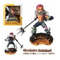 Anime One Piece Three Sweet Commanders Charlotte Katakuri Donuts Verslon PVC Action Figure Collection Model Toys Doll