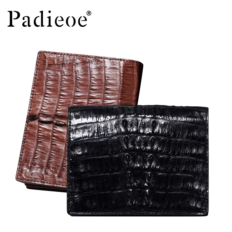 Men 's true crocodile leather bag handbag short section business vertical section money wallet big notes wallet Free shipping